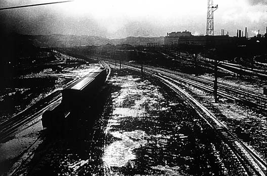 Daido Moriyama, Untitled (Train Yard)